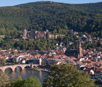 Stadt Heidelberg von oben