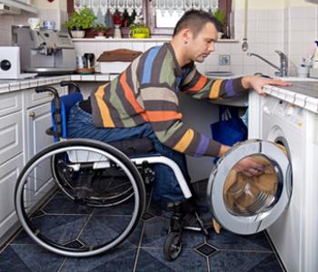 Wäsche waschen mit Handicap