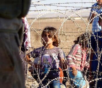 Flüchtlinge an der türkisch-syrischen Grenze