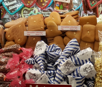Buden auf dem Heidelberger Weihnachts·markt