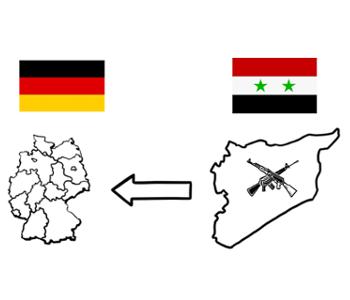 Karten von Syrien und Deutschland