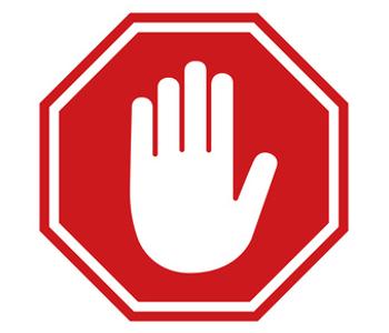 Zeichen für Halt