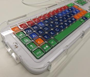 Besondere Tastatur mit großen Tasten