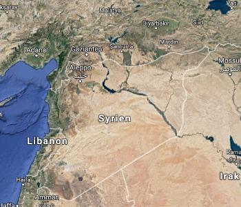 Land·karte von Syrien