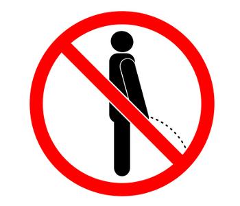 Wild·pinkeln ist verboten