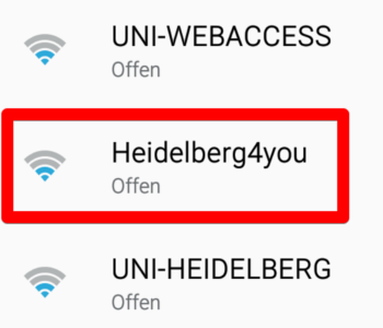 Das W-LAN heißt Heidelberg4you