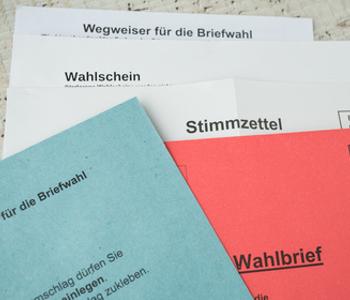 Unter·lagen für Brief·wahl