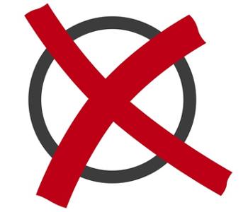 Kreuz auf Stimm·zettel