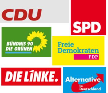 Logos der Parteien