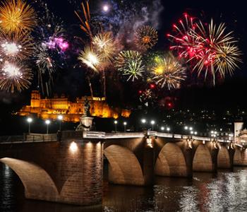 Feuer·werk in Heidelberg