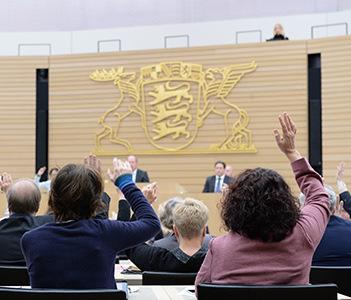 Abstimmung im Landtag