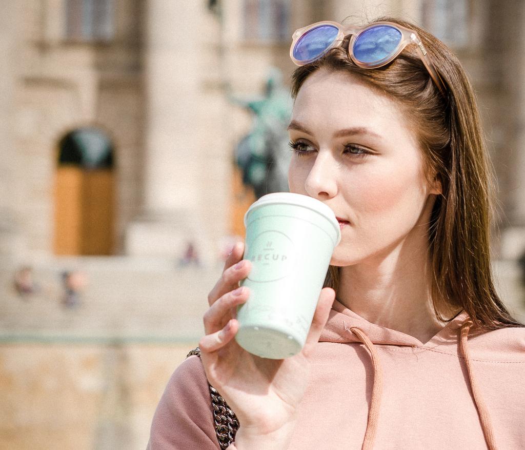 Kaffeetrinkerin