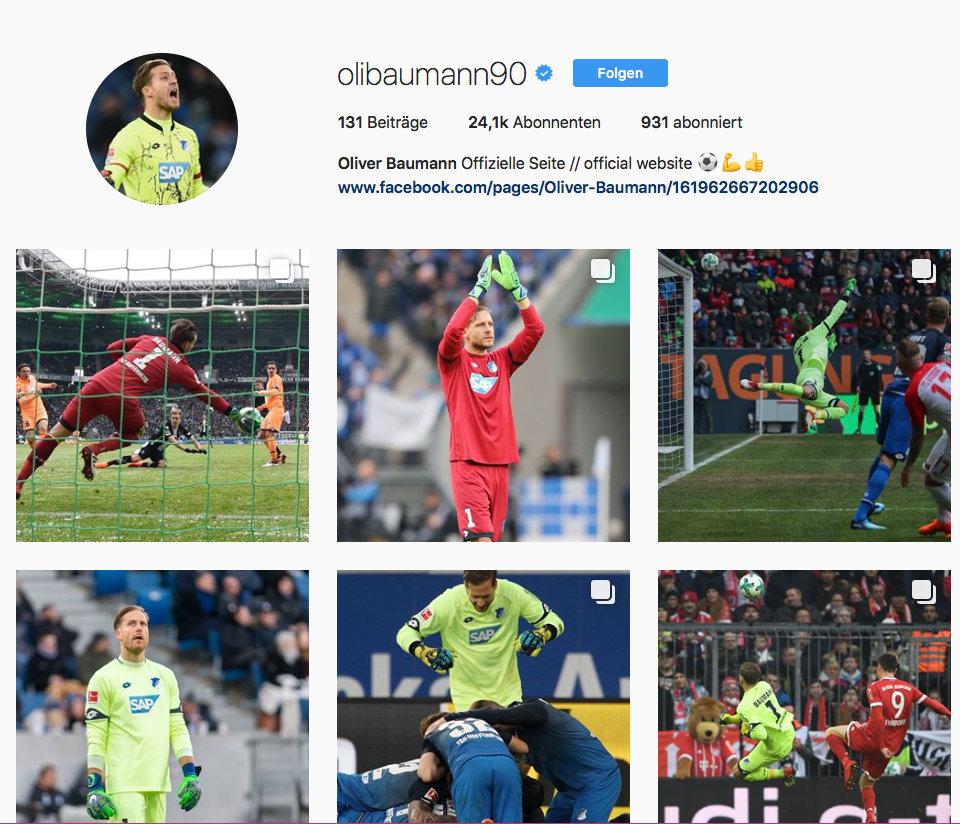 Oliver Baumann bei Instagram