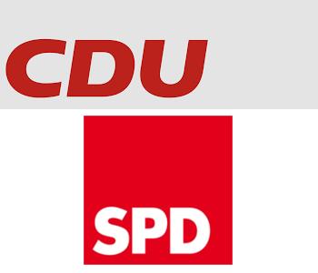 Logo von CDU und SPD