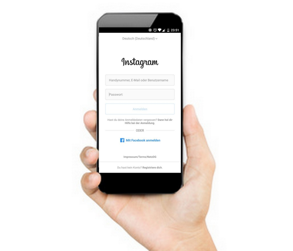 Instagram auf dem Handy