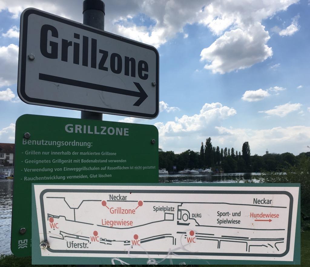 Schild Grillzone