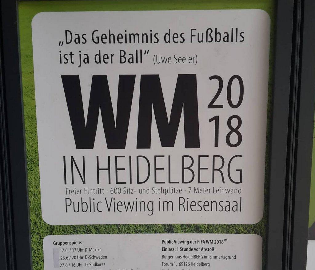 Plakat Public Viewing