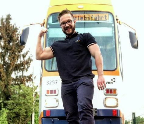 Bahnfahrer Dominik