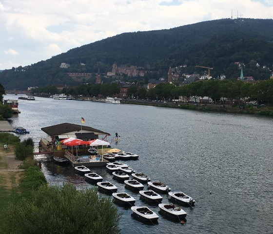 Tretbootverleih auf dem Neckar