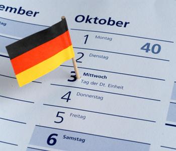 Termin·kalender mit Deutschland·flagge