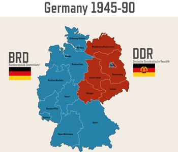 Karte von BRD und DDR
