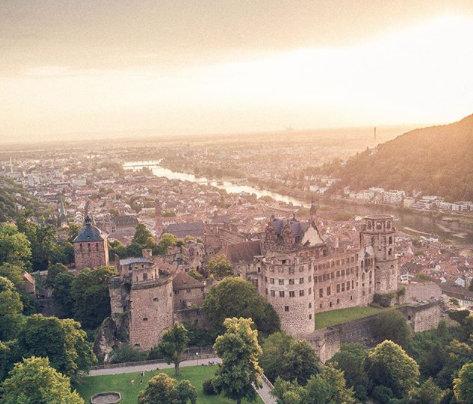Das Heidelberger Schloss von oben