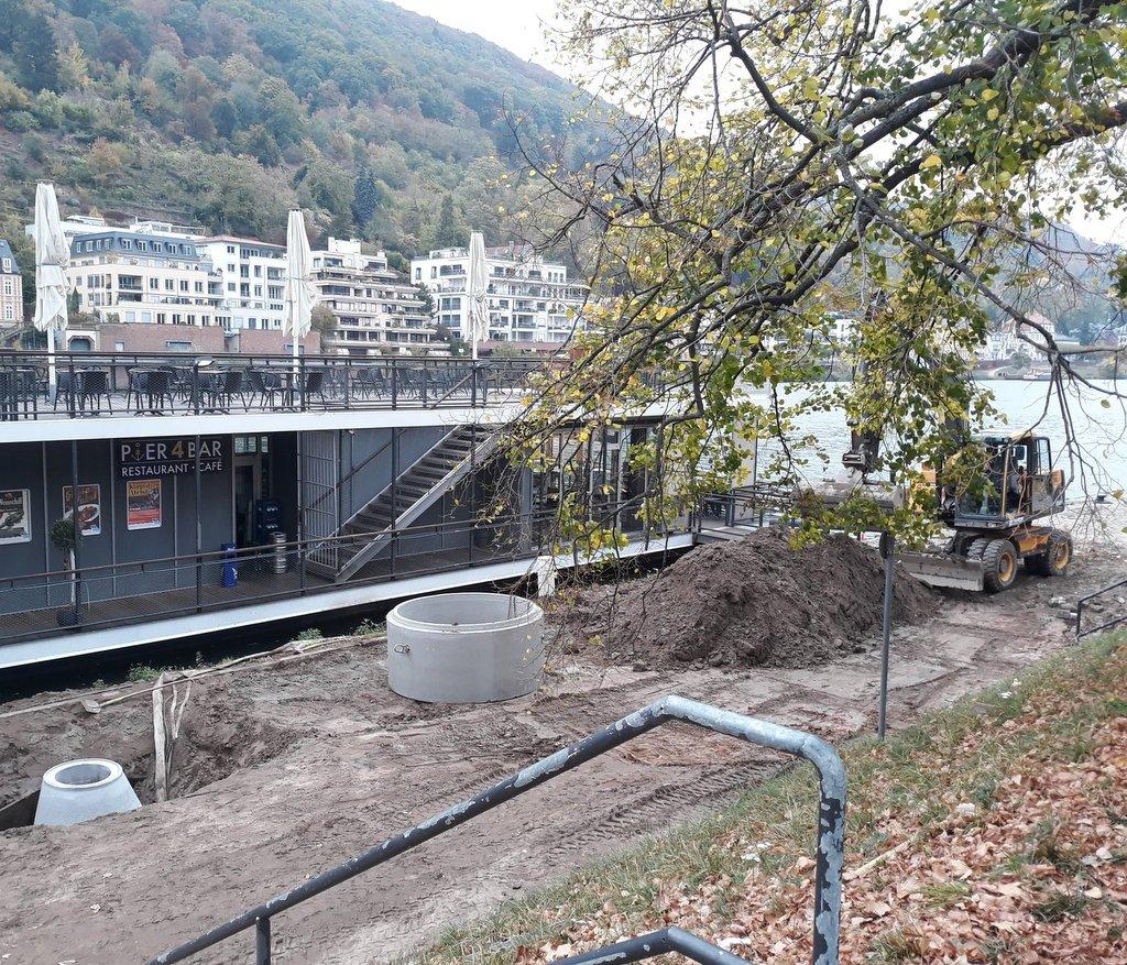 Baustelle am Neckar