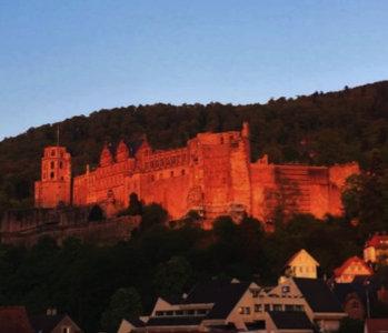 Heidelberger Schloss abends