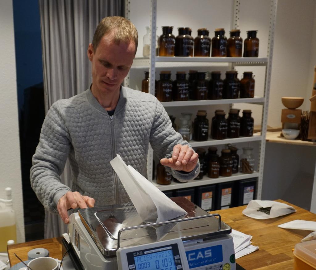 Andreas bei der Arbeit