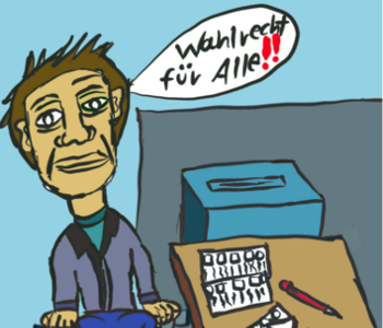 Zeichnung Wahlrecht für alle