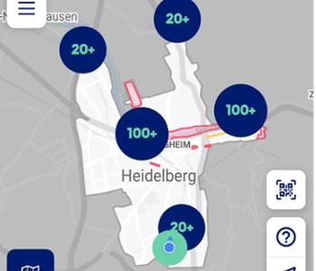Foto vom Stadtplan in der App