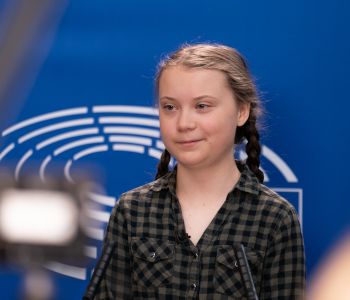 Die Schülerin Greta Thunberg