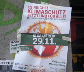 Plakat für die Klima-Demo