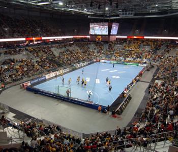 Hanbdallspiel der Rhein-Neckar-Löwen in der SAP-Arena