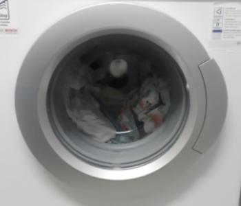 Foto von einer Waschmaschine.