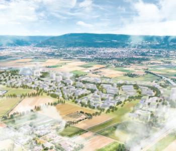 Plan vom neuen Stadtteil in PHV